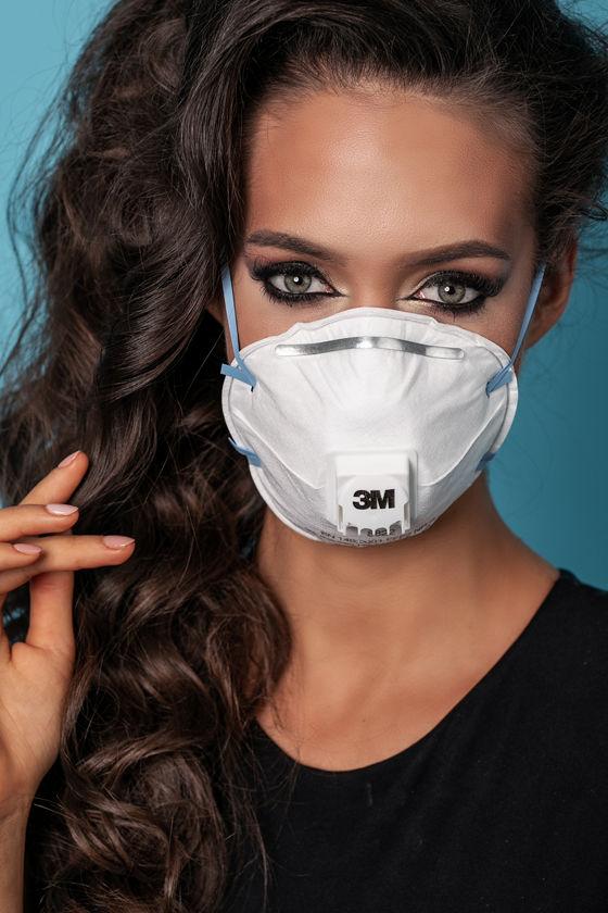 3M 8822 - FFP2 légzésvédő maszk - szelepes - 10 db - Fehér