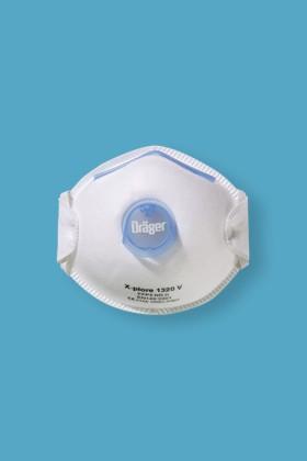DRÄGER (DRAEGER) X-PLORE 1320 V FFP2 légzésvédő maszk - szelepes - 10 db