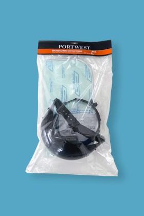 Portwest PW96 Plus arcpajzs felhajtható plexivel - Arcpajzs - 1 db - Víztiszta