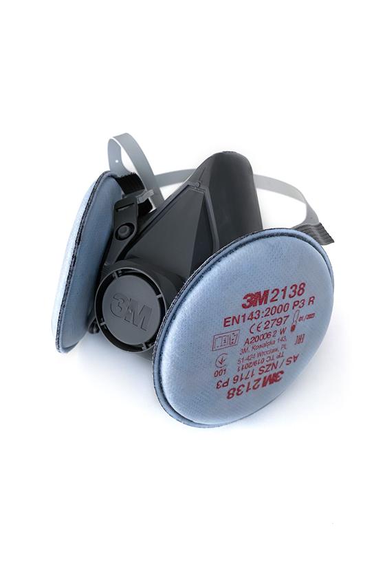 3M 6100-6300 félálarc + 3M 2138 P3 (FFP3) szűrőbetét