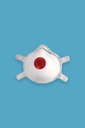 Deltaplus M1300V FFP3 NR D részecskeszűrő arcmaszk - 5 db - Fehér