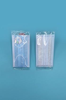 Háromrétegű egészségügyi arcmaszk - egyesével csomagolva - Arcmaszk - 50 db - Kék