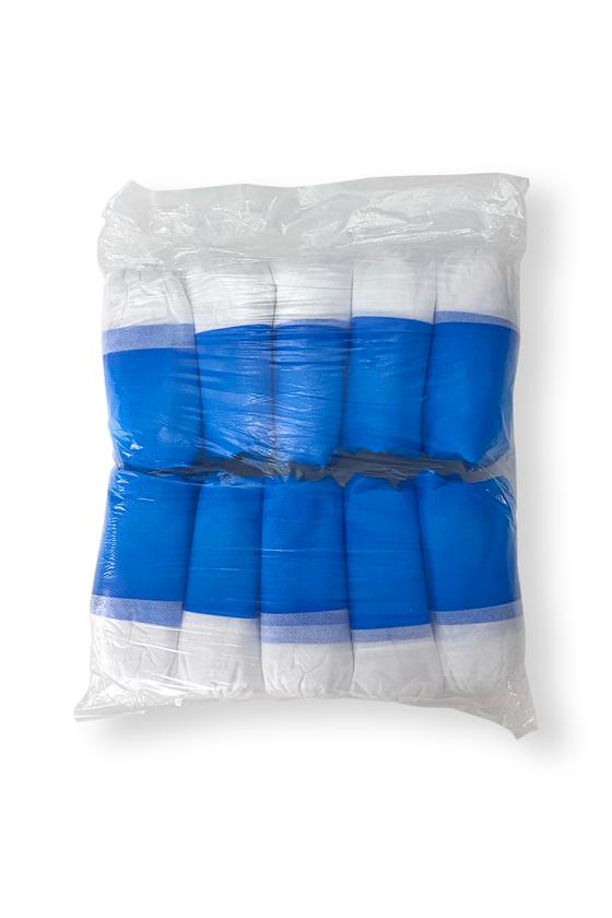 Erősített talpú cipővédő - fehér-kék - Cipővédő - 100 db - Fehér-Kék