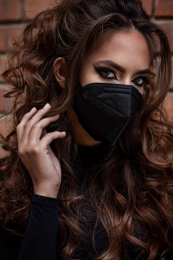 Legal Beauty FFP2 (N95/KN95) 7 rétegű maszk - szelep nélküli - fekete - 5 db - Fekete