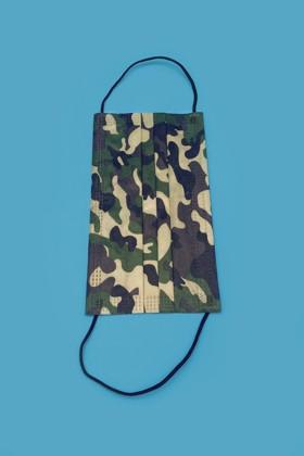 3 rétegű felnőtt arcmaszk - Katonai - 50 db - 1 doboz
