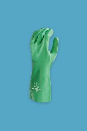 SHOWA 731 nitril vegyszerálló, biológiailag lebomló kesztyű - Nitril kesztyű - Zöld - S