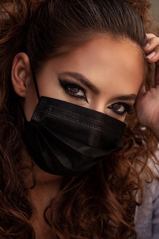 Legal Beauty 4 rétegű egészségügyi arcmaszk - fekete - 50 db