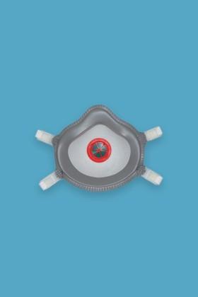 Deltaplus M1300V FFP3 NR D részecskeszűrő arcmaszk - Arcmaszk - 5 db - Fehér