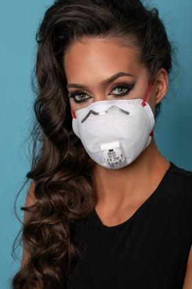 3M 8833 FFP3 RD légzésvédő maszk - szelepes - 10 db - Fehér