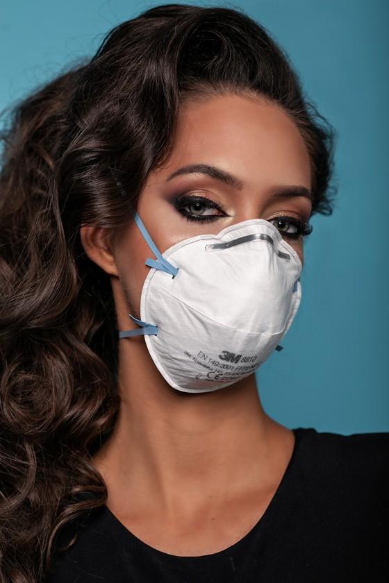 3M 8810 FFP2 légzésvédő maszk - Arcmaszk - 20 darab - Fehér
