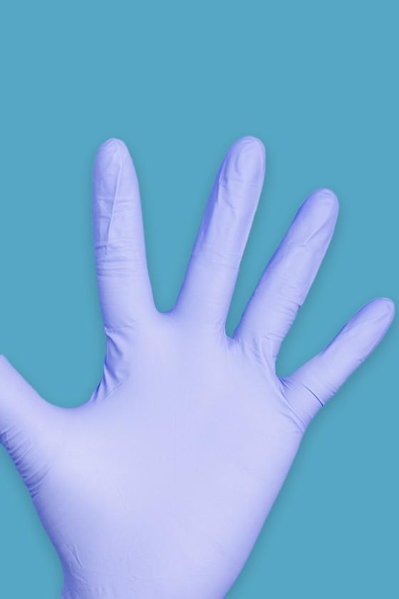 Prémium minőségű nitril kesztyű - kék - 100 db - Nitril kesztyű - Kék - M