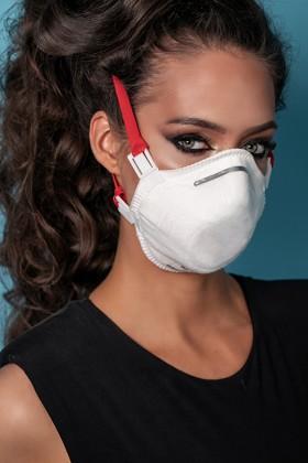 Perfetto FFP3 légzésvédő maszk - fehér - Perfetto Arcmaszk - 5 db - Puha - Szelep nélküli