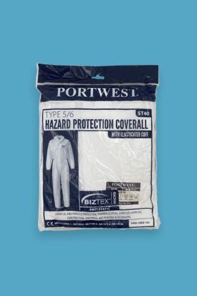 Portwest ST40 Biztex védőoverál Type 5/6 - Overál - Fehér - L