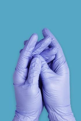 Prémium minőségű nitril kesztyű -  100 db - Kék - S