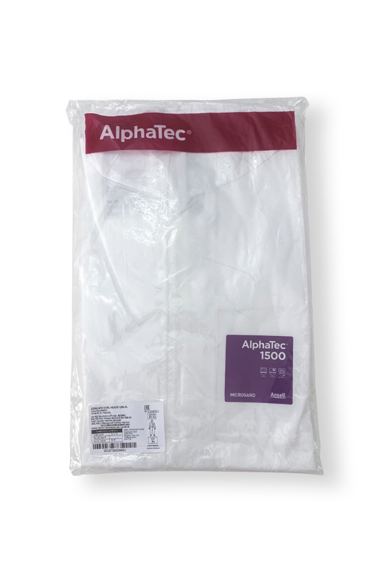 Ansell Alphatec 1500 overál (5-ös/6-os típusú védelem) - Overál - Fehér - XL