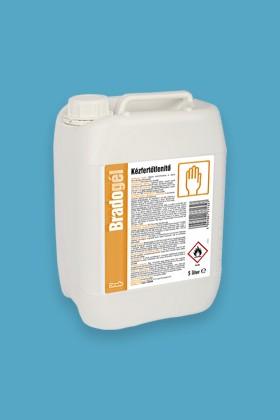 Bradogél alkoholos gél állagú kézfertőtlenítőszer - Kézfertőtlenítő - illatmentes - 4 x 5 L