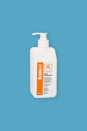 Bradogél alkoholos gél állagú kézfertőtlenítőszer - Kézfertőtlenítő - illatmentes - 10 x 500 ML