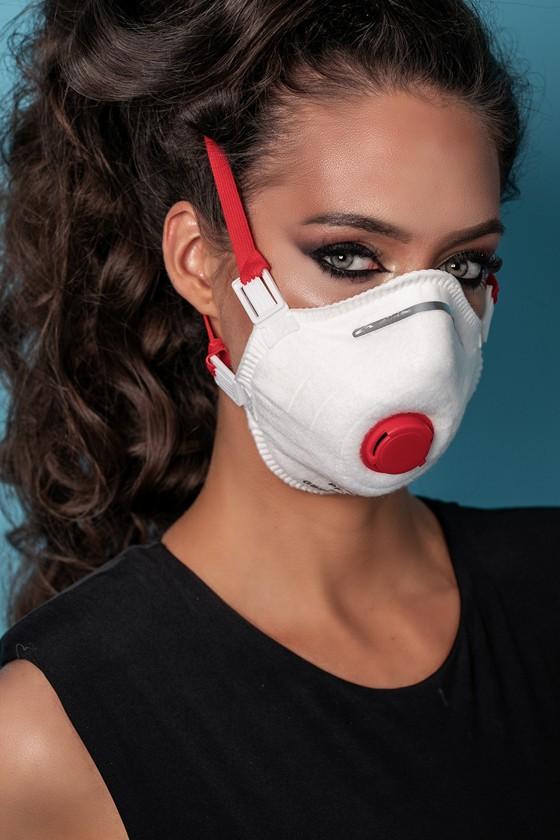 Perfetto FFP3 légzésvédő maszk - fehér - Perfetto Arcmaszk - 5 db - Puha - Szelepes