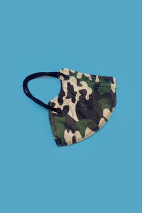FFP2 szelep nélküli 5 rétegű felnőtt maszk - Katonai - 5 db - 1 csomag