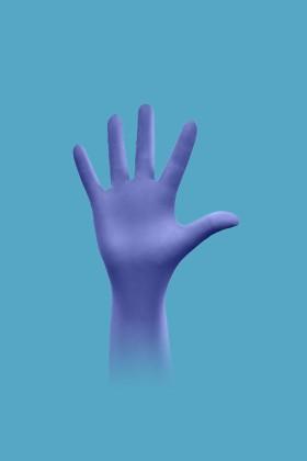Showa 7585 vegyszerálló 30 cm hosszú nitril kesztyű - Kék - L
