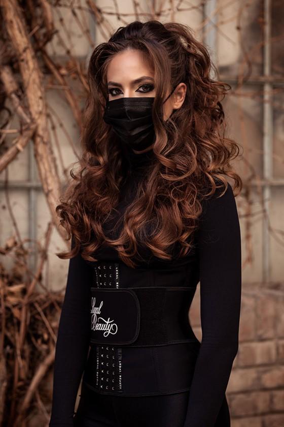 Legal Beauty 4 rétegű egészségügyi arcmaszk - fekete - 4 rétegű arcmaszk - 50 db - Fekete - Felnőtt