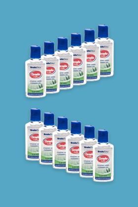 Bradolife kézfertőtlenítő gél - Aloe vera - 12 x 50 ML - karton