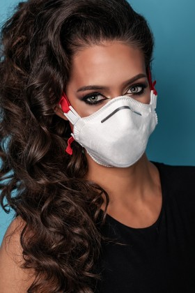 Perfetto FFP3 légzésvédő puha kialakítású maszk - szelep nélküli - 5 db - fehér