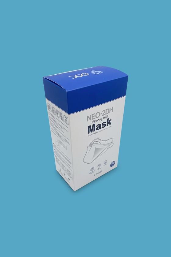 DOC NEO-2DH kacsacsőrű fejpántos FFP2 CE 0598 maszk - FFP2 maszk - 30 darab - Fehér - Szelep nélküli