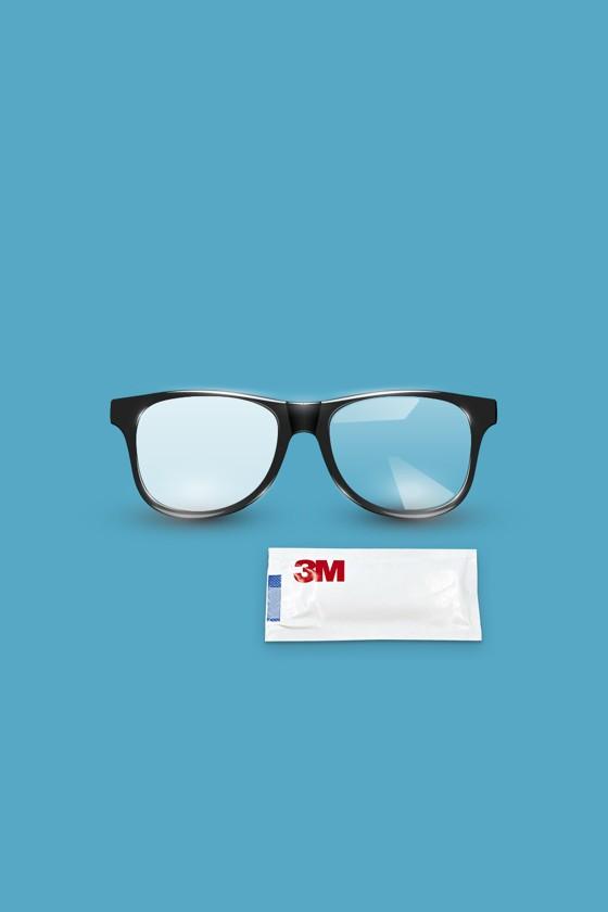 3M Szemüveg páramentesítő nedves törlőkendő - Törlőkendő - 20 db