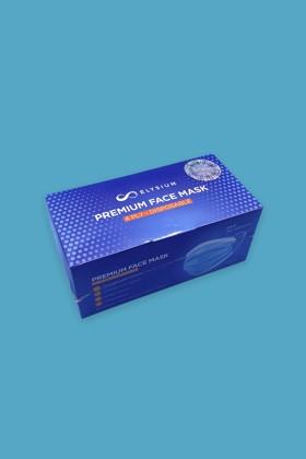 Elysium 4 rétegű prémium maszk - Arcmaszk - 50 db - Kék