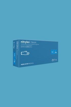 Mercator Nitrylex kék orvosi púdermentes nitril kesztyű - L - kék