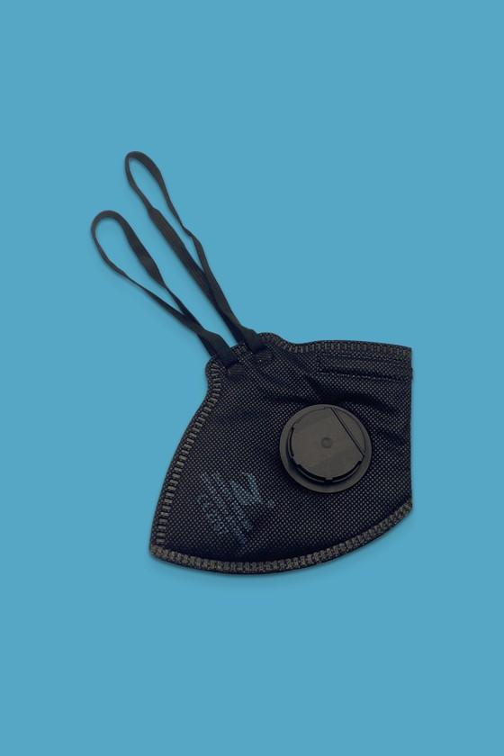 Zmask prémium FFP3 - FFP3 maszk - 5 db - Fekete - Szelepes