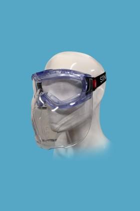 Singer EVAGUARD gumipántos, gázvédő szemüveg Singer ACCGUARD arcvédővel - 1 db - Víztiszta