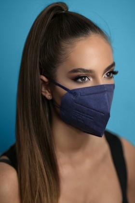 Jiada FFP2 CE 0370 szelep nélküli kék maszk - 10 db - kék