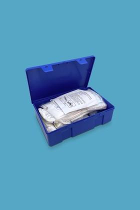 Elsősegély felszerelés gépjárművekhez - Elsősegély felszerelés - B (kék dobozos)