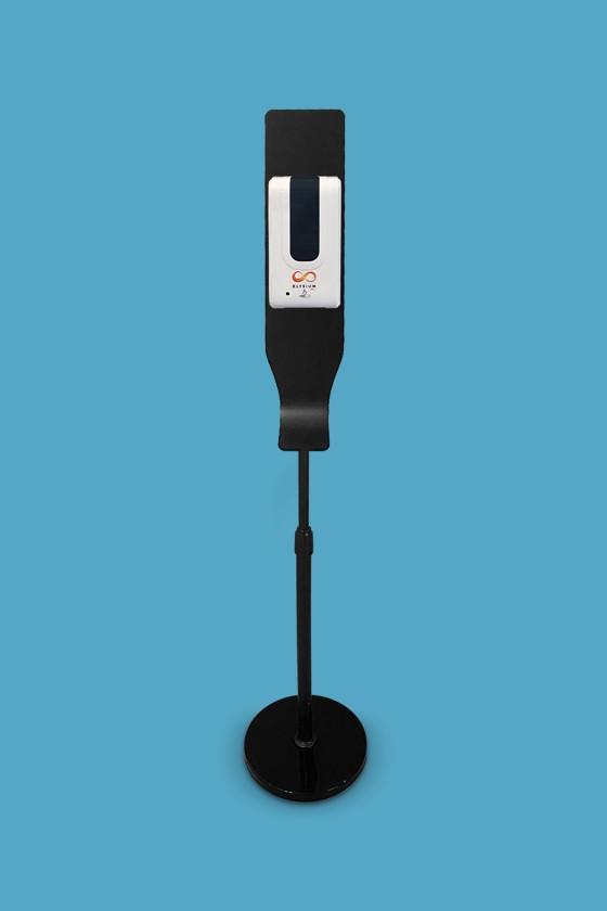 Elysium Pro professzionális, érintésmentes, 1200 ml-es adagoló - Adagoló - Szórófejes - Fekete állvánnyal - Fehér