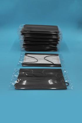 Háromrétegű egészségügyi arcmaszk - egyesével csomagolva - Fekete - 50 db - Fekete