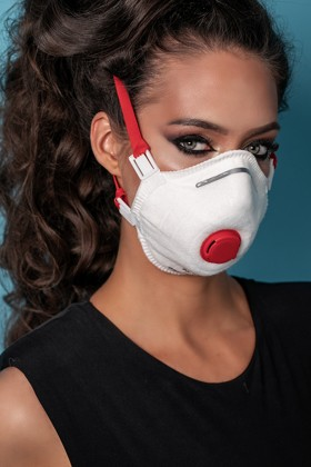 Perfetto FFP3 légzésvédő maszk - fehér - Perfetto Arcmaszk - 5 db - Kemény - Szelepes
