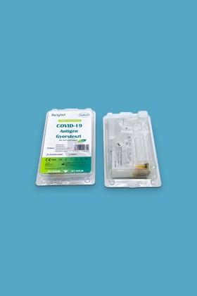 ALLTEST Beright COVID-19 Ag nyálteszt otthoni felhasználásra - 1 db tesztkészlet - SARS-CoV-2 teszt - 1 db - Antigén (Ag) Nyál