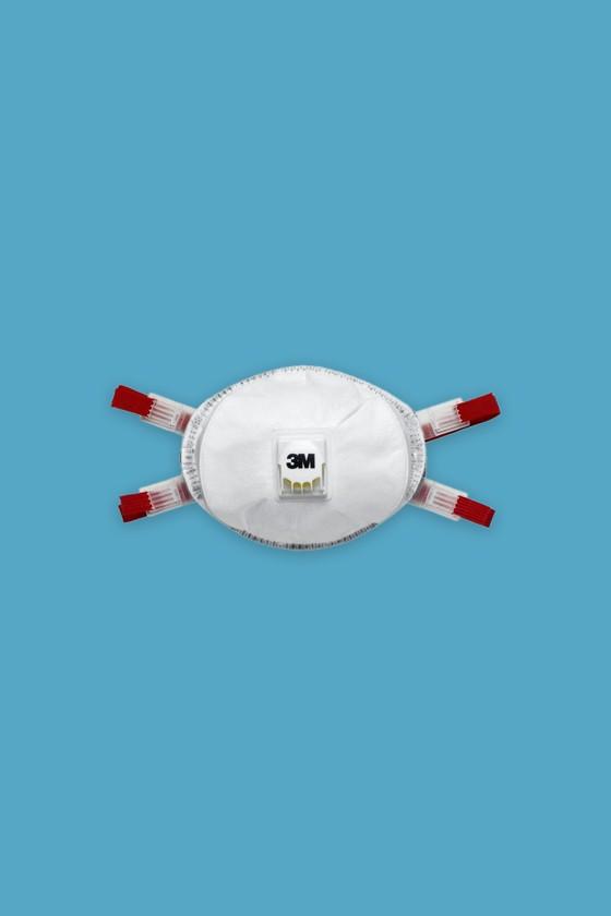 3M 8835 FFP3D Szelepes, prémium részecskeszűrő félálarc - Arcmaszk - 5 db - Fehér