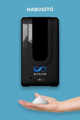Elysium professzionális, érintésmentes, 1200 ml-es adagoló - Habosító szappan - Állvány nélkül - Fekete