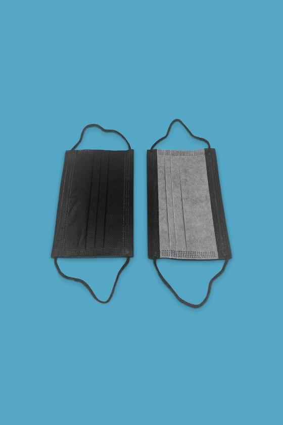 Legal Beauty 3-rétegű egészségügyi arcmaszk - Arcmaszk - 50 db - Fekete