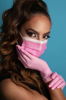 Legal Beauty 4 rétegű egészségügyi arcmaszk - rózsaszín - 50 db - Felnőtt