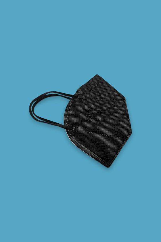 Legal Beauty FFP3 7-rétegű maszk (CE 0370) - FFP3 maszk - 5 db - Fekete - Szelep nélküli