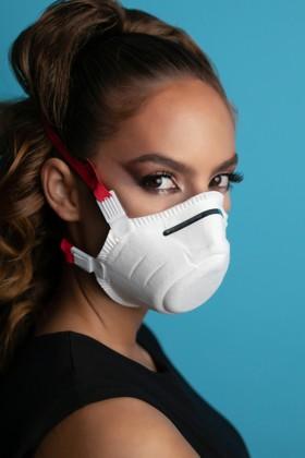 Perfetto FFP3 légzésvédő kemény kialakítású maszk - szelep nélküli - 5 db - fehér