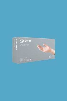 Mercator vinyl púderes áttetsző professzionális kesztyű - L - 100 db