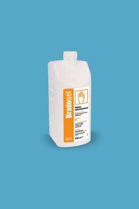 Bradogél alkoholos gél állagú kézfertőtlenítőszer - Kézfertőtlenítő - illatmentes - 1000 ml