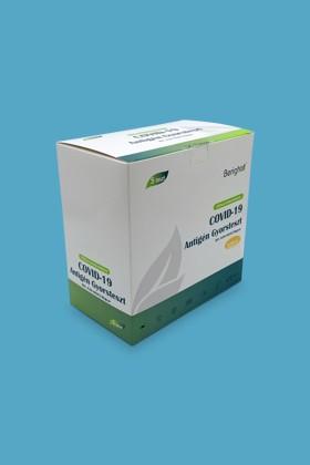 ALLTEST Beright COVID-19 antigén nyálteszt otthoni felhasználásra - 1 db tesztkészlet (nyálból - tölcséres) - 1 db
