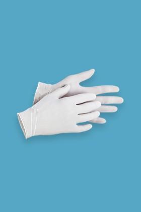 Sempercare púderes latex kesztyű - Latex kesztyű - Fehér - L