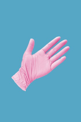 Prémium Nitril CE 0321 rózsaszín kesztyű - 200 db - XS